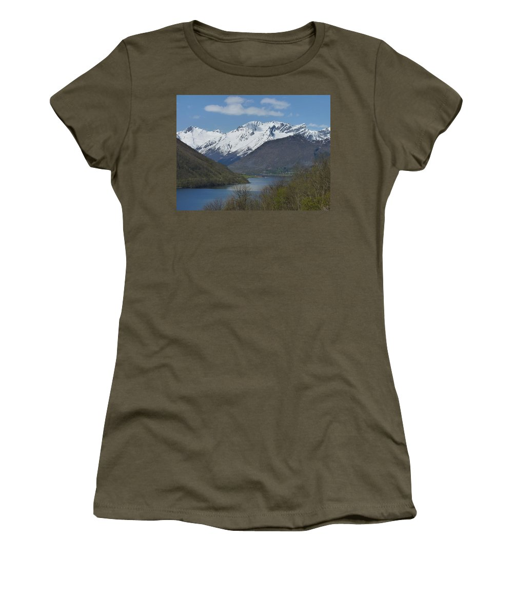 Women's T-Shirt (Athletic Fit) featuring the photograph Over The Hjorundfjord by Katerina Naumenko