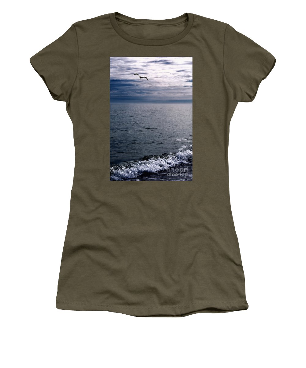 Alone Women's T-Shirt featuring the photograph Over The Ocean by Margie Hurwich