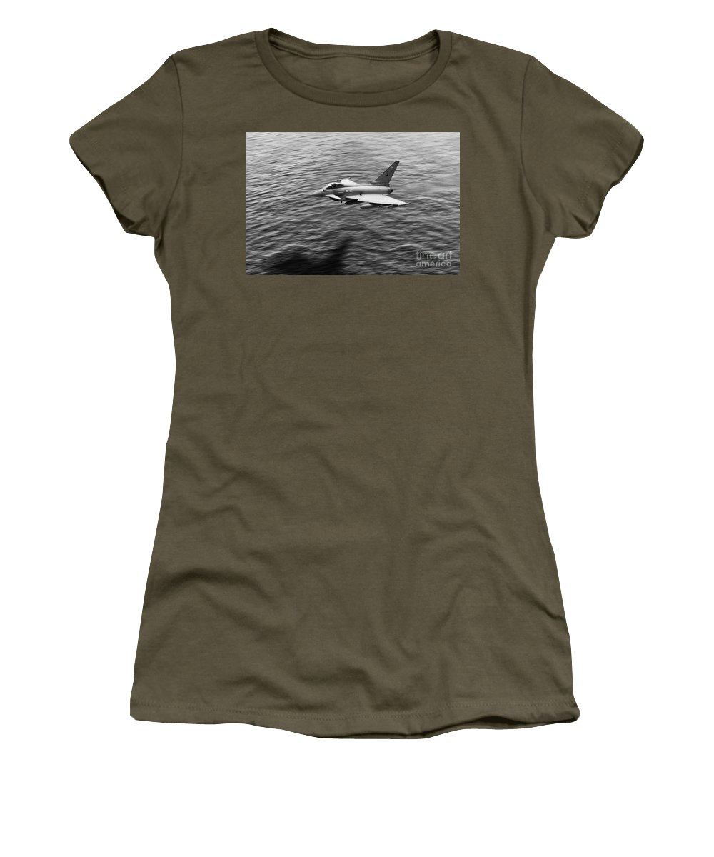 Typhoon Women's T-Shirt featuring the digital art Over The Sea by J Biggadike
