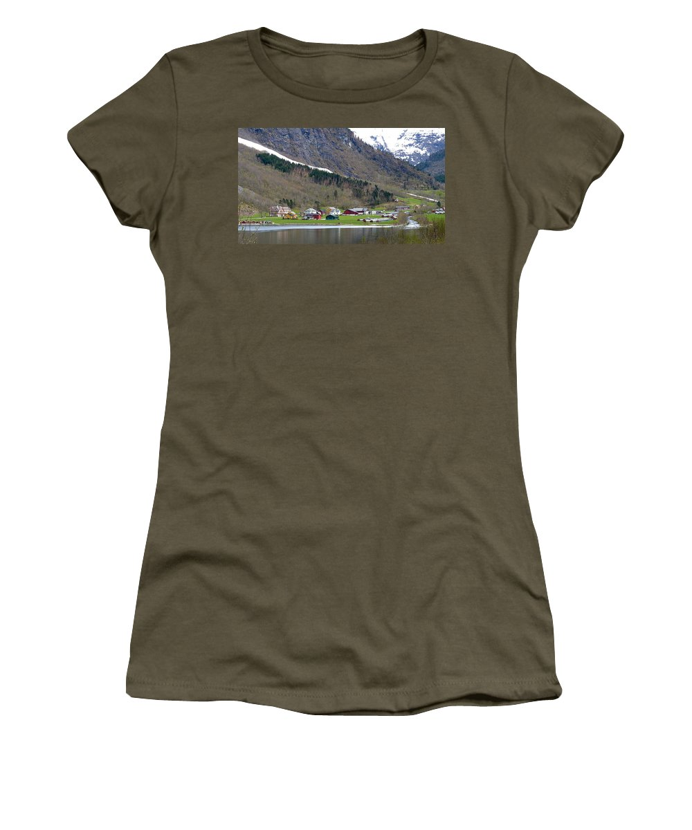 Women's T-Shirt featuring the photograph Oye Norway by Katerina Naumenko