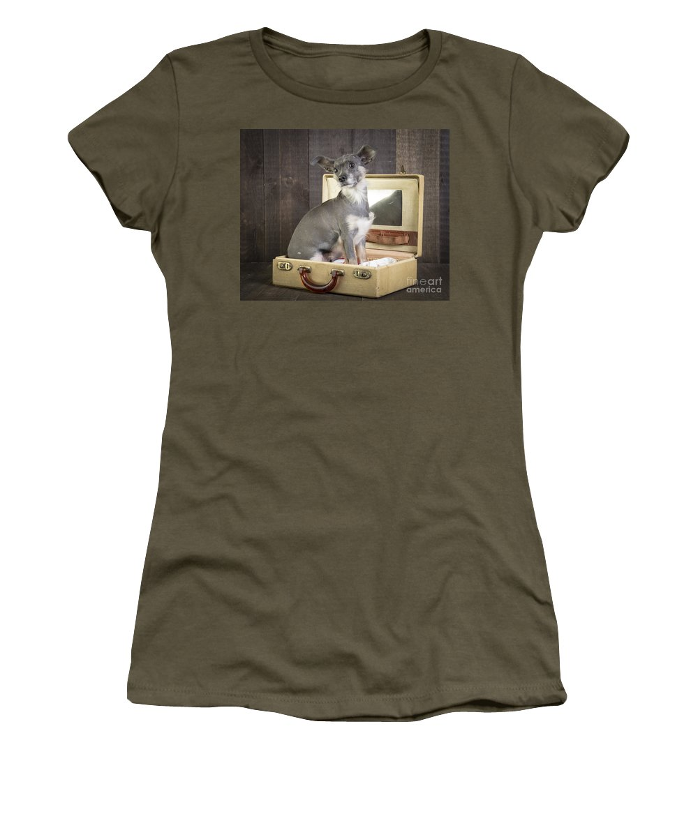Dog Women's T-Shirt featuring the photograph Packed And Ready To Go by Edward Fielding