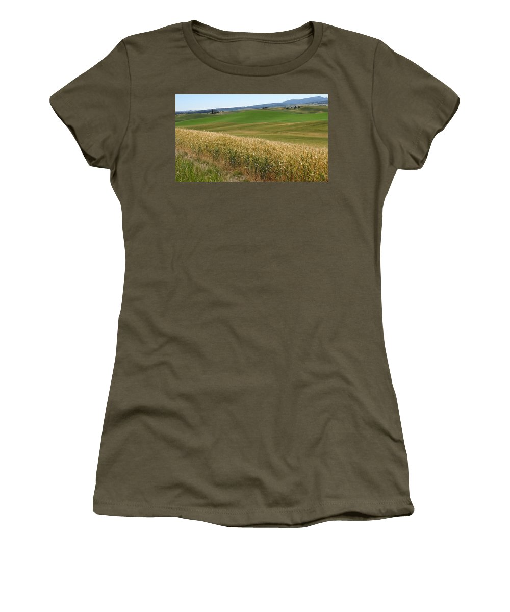 Palouse Women's T-Shirt featuring the photograph Palouse Or Tuscany by Anne Mott