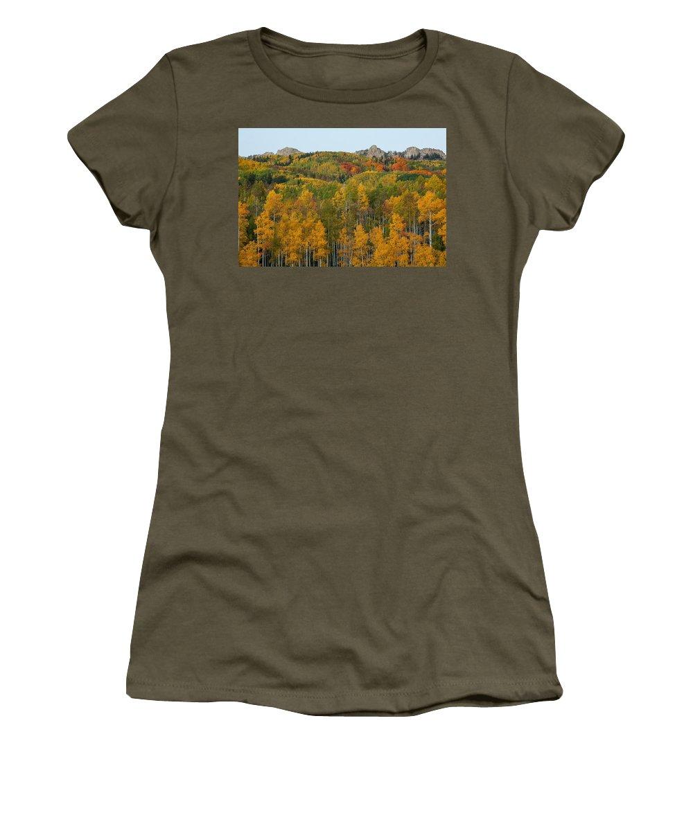 Landscape Women's T-Shirt featuring the photograph Paradise Autumn by Bill Sherrell