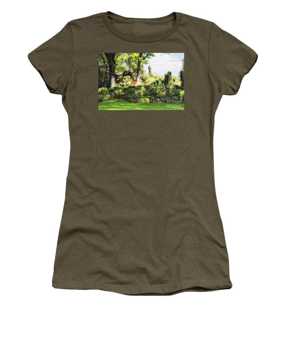 Paris Women's T-Shirt featuring the photograph Park In Paris by Timothy Hacker