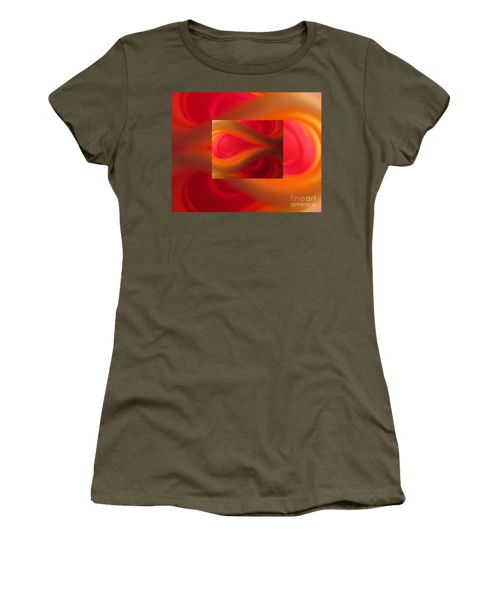 Passion Women's T-Shirt featuring the photograph Passion Abstract 02 by Ausra Huntington nee Paulauskaite