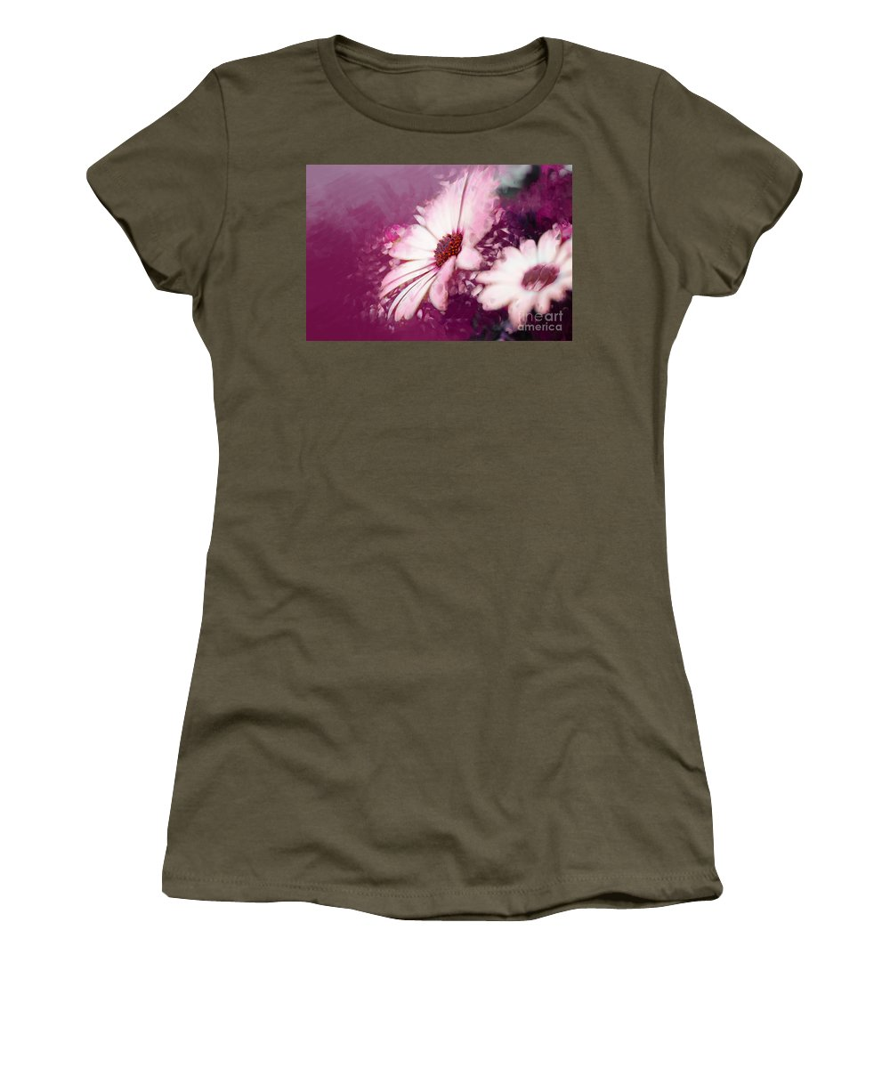 Daisy Women's T-Shirt (Athletic Fit) featuring the photograph Passion by Betty LaRue