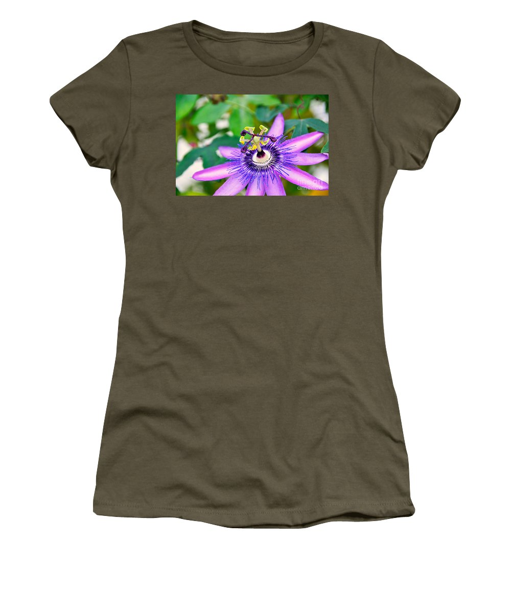 David Lawson Photography Women's T-Shirt featuring the photograph Passion Flower by David Lawson