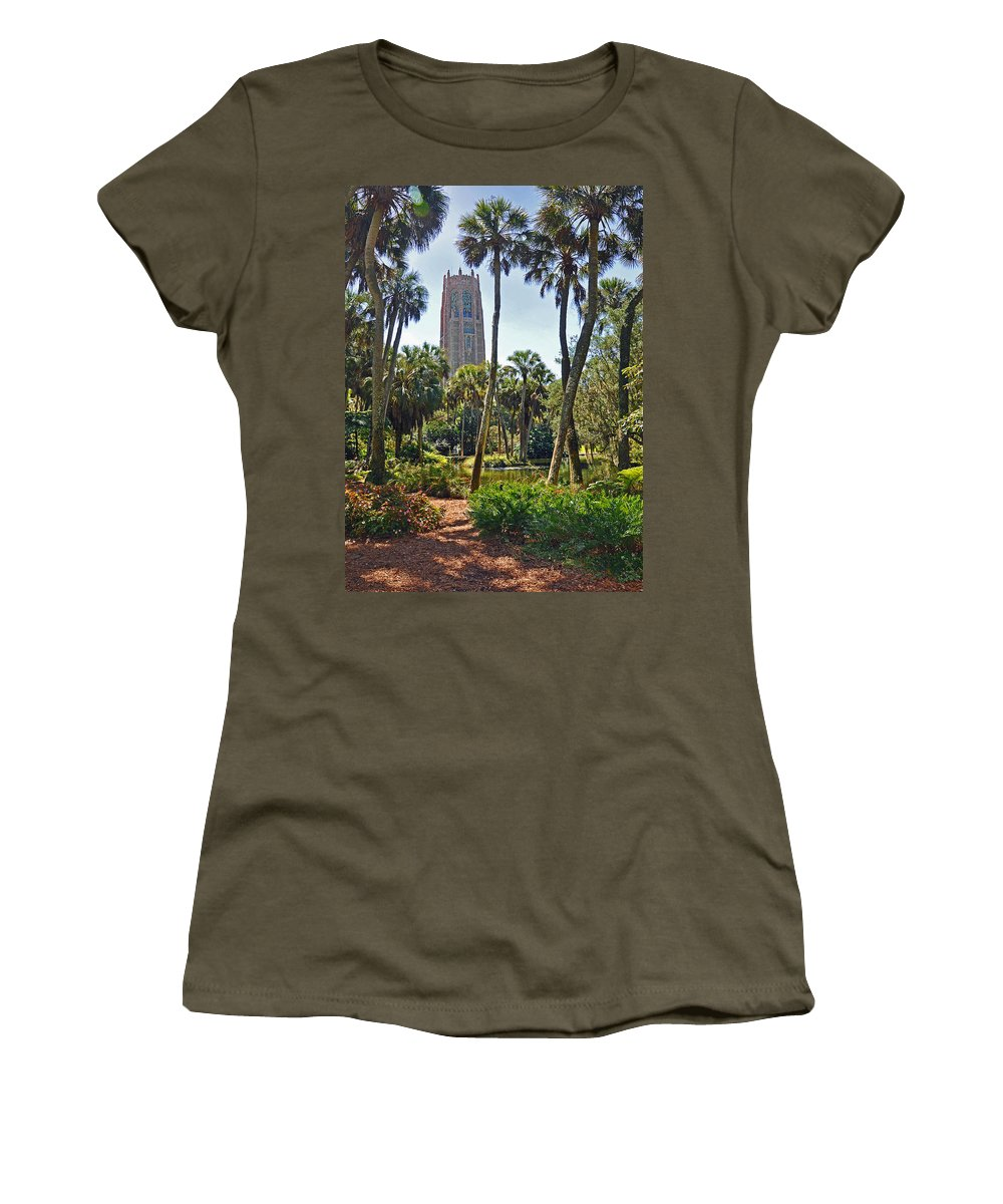 Landscapes Women's T-Shirt featuring the photograph Pathway To The Tower by Deborah Good