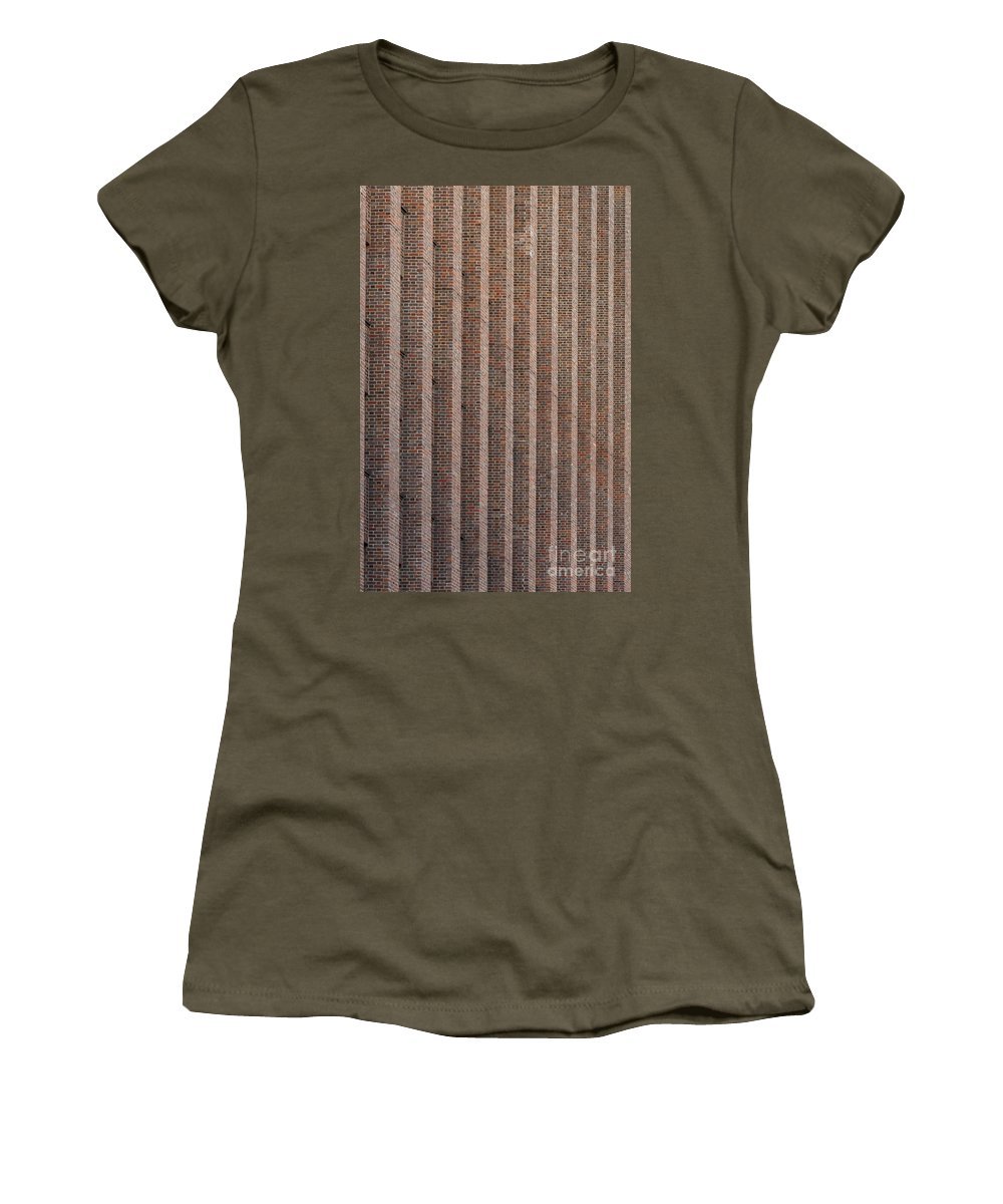 Abstract Women's T-Shirt featuring the photograph Patterend Brick Facade by Jannis Werner