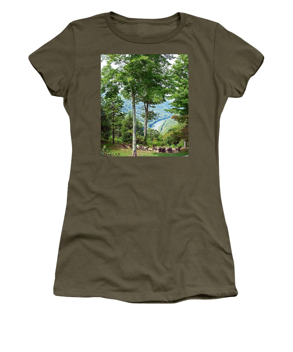 River Women's T-Shirt featuring the photograph Peace And Tranquility by Aimee L Maher ALM GALLERY