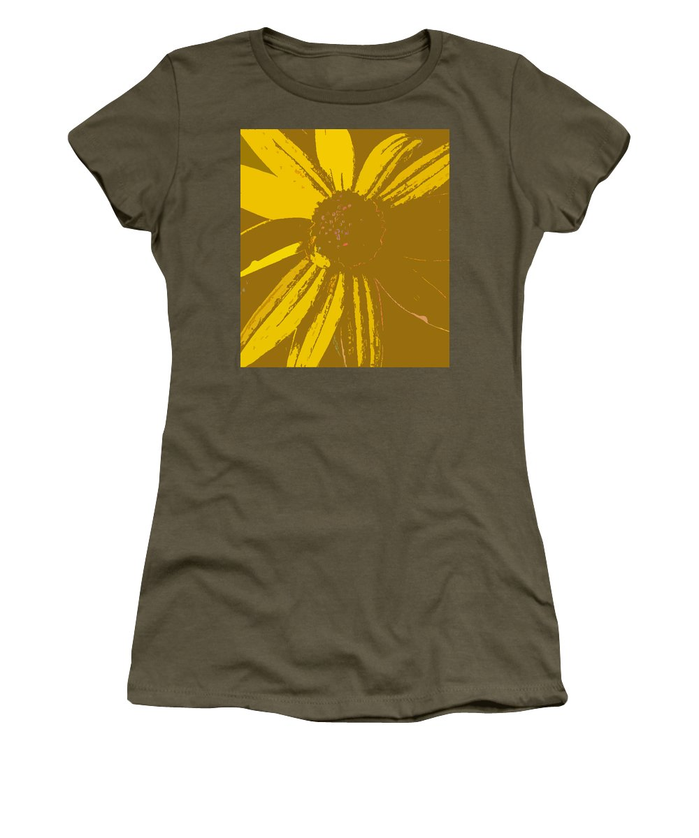 Yellow Women's T-Shirt (Athletic Fit) featuring the digital art Peace by Jennifer E Doll