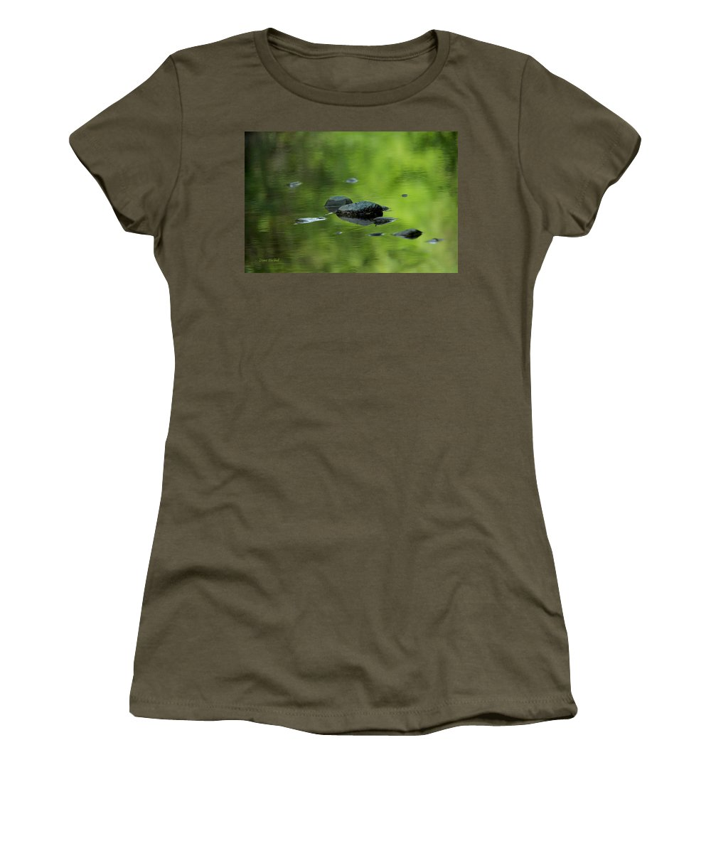River Women's T-Shirt featuring the photograph Peace Like A River by Donna Blackhall
