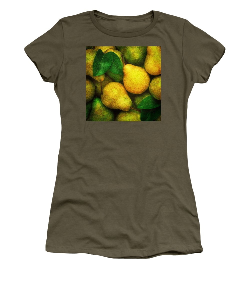 Pears Women's T-Shirt (Athletic Fit) featuring the photograph Pears by Mauro Celotti