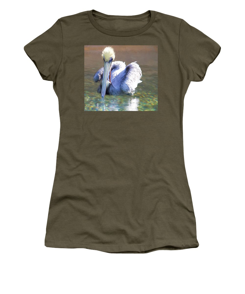 Pelican Women's T-Shirt featuring the photograph Pelican Blue by Alice Gipson