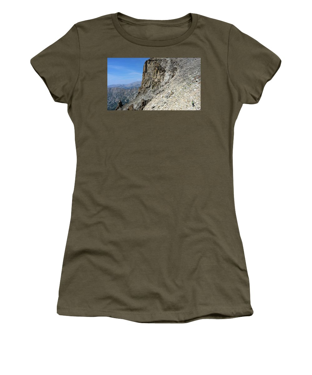 Colorado Women's T-Shirt featuring the photograph Person Walking Up Steep Stony by Bennett Barthelemy