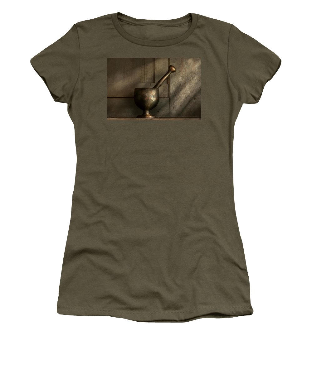 Pharmacist Women's T-Shirt featuring the photograph Pharmacist - Pestle - Simpler Times by Mike Savad
