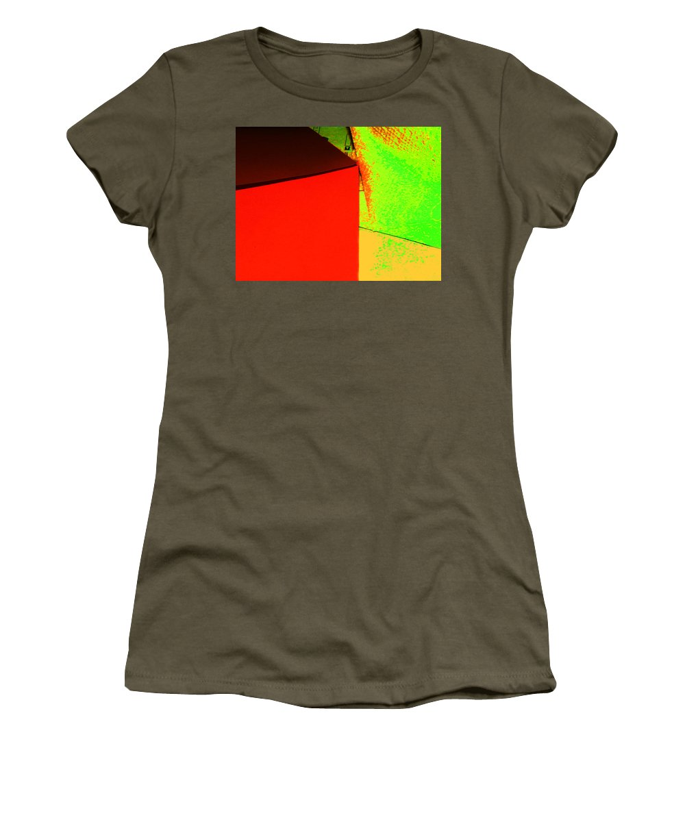 Abstract Women's T-Shirt featuring the photograph Photo Sketch Abstract 4 - The Paper Series by Lenore Senior