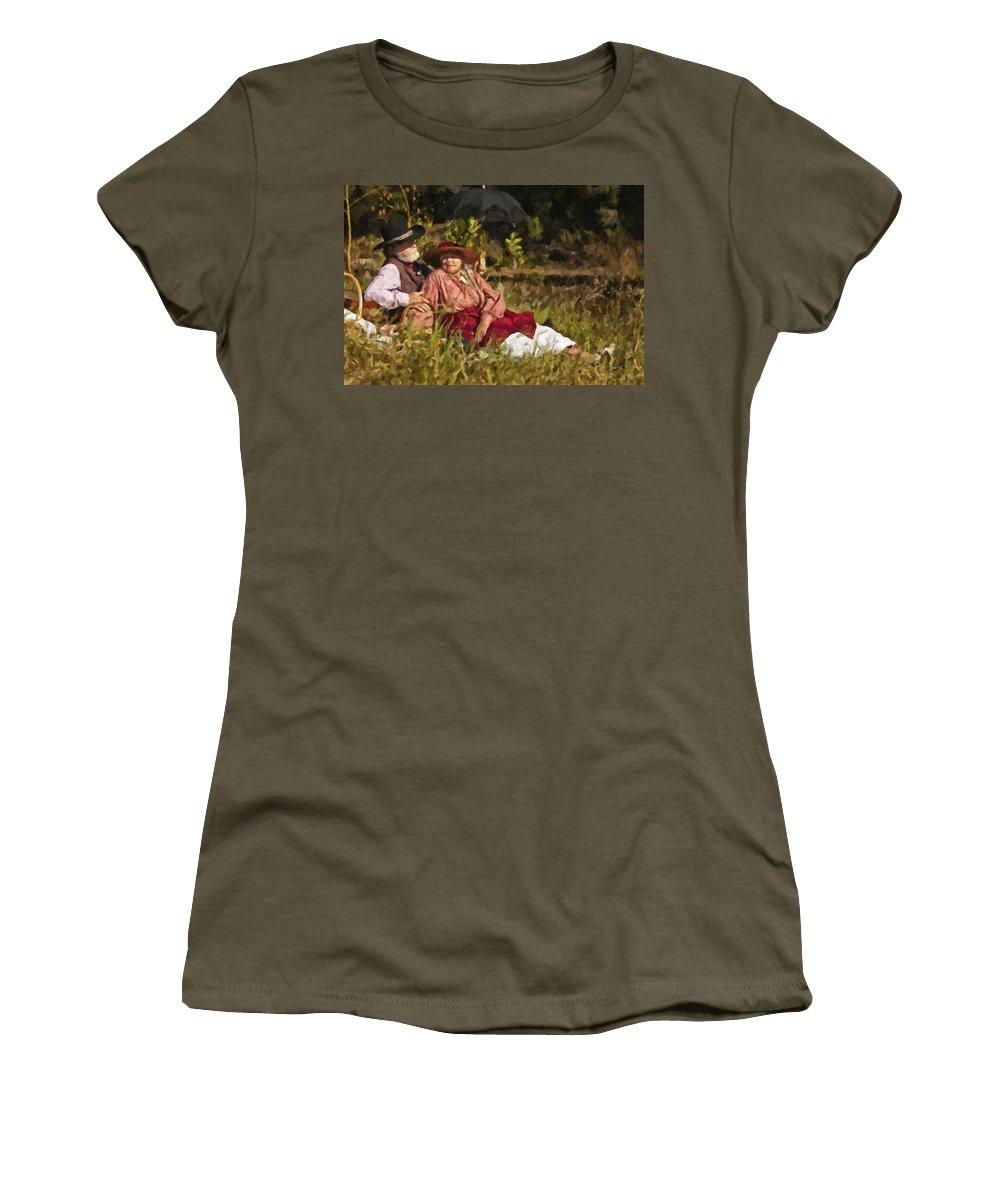 Picnic Women's T-Shirt featuring the digital art Picnic by Jack Milchanowski