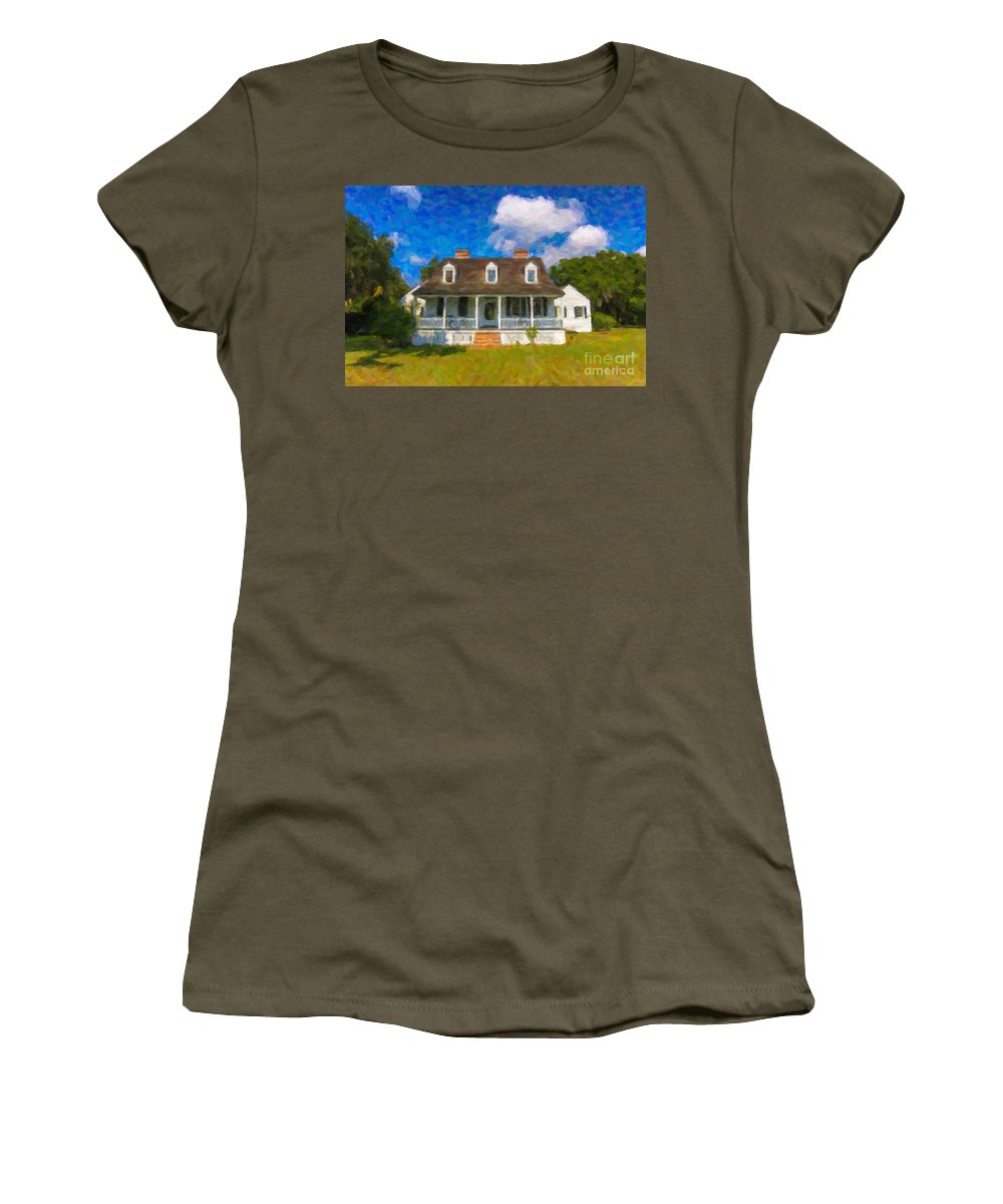 Charles Pinckney Women's T-Shirt featuring the photograph Pinckney Nps Site by Dale Powell