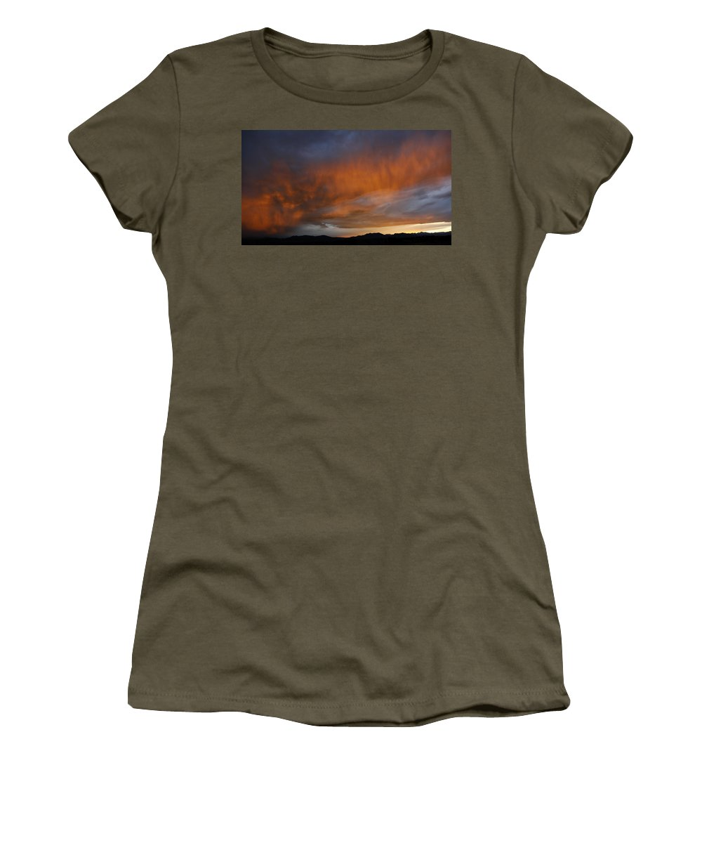 Pink Women's T-Shirt featuring the photograph Pink Rain 3 by Marilyn Hunt