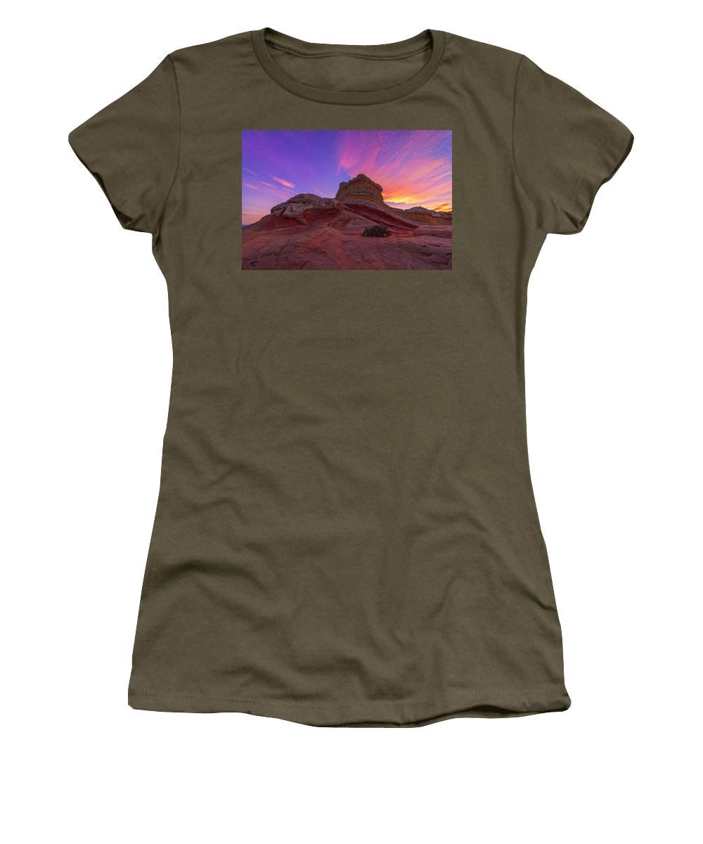 Arizona Women's T-Shirt featuring the photograph Pink Swirl by Dustin LeFevre