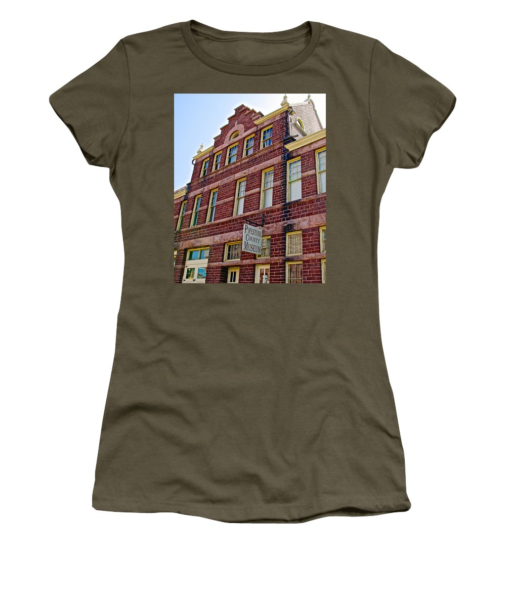 Pipestone County Museum-1886 In Pipestone Women's T-Shirt featuring the photograph Pipestone County Museum-1886 In Pipestone-minnesota by Ruth Hager