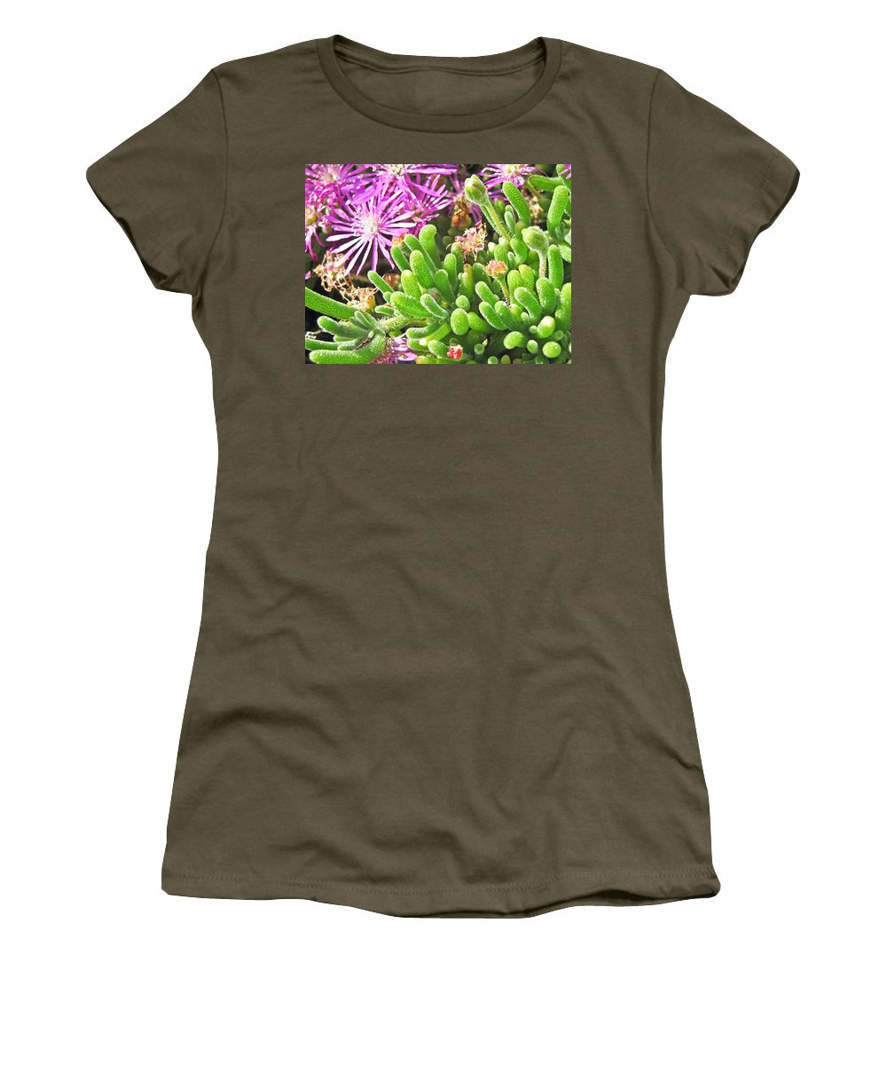 Flowers Women's T-Shirt featuring the photograph Plants Flowers by Brian Williamson