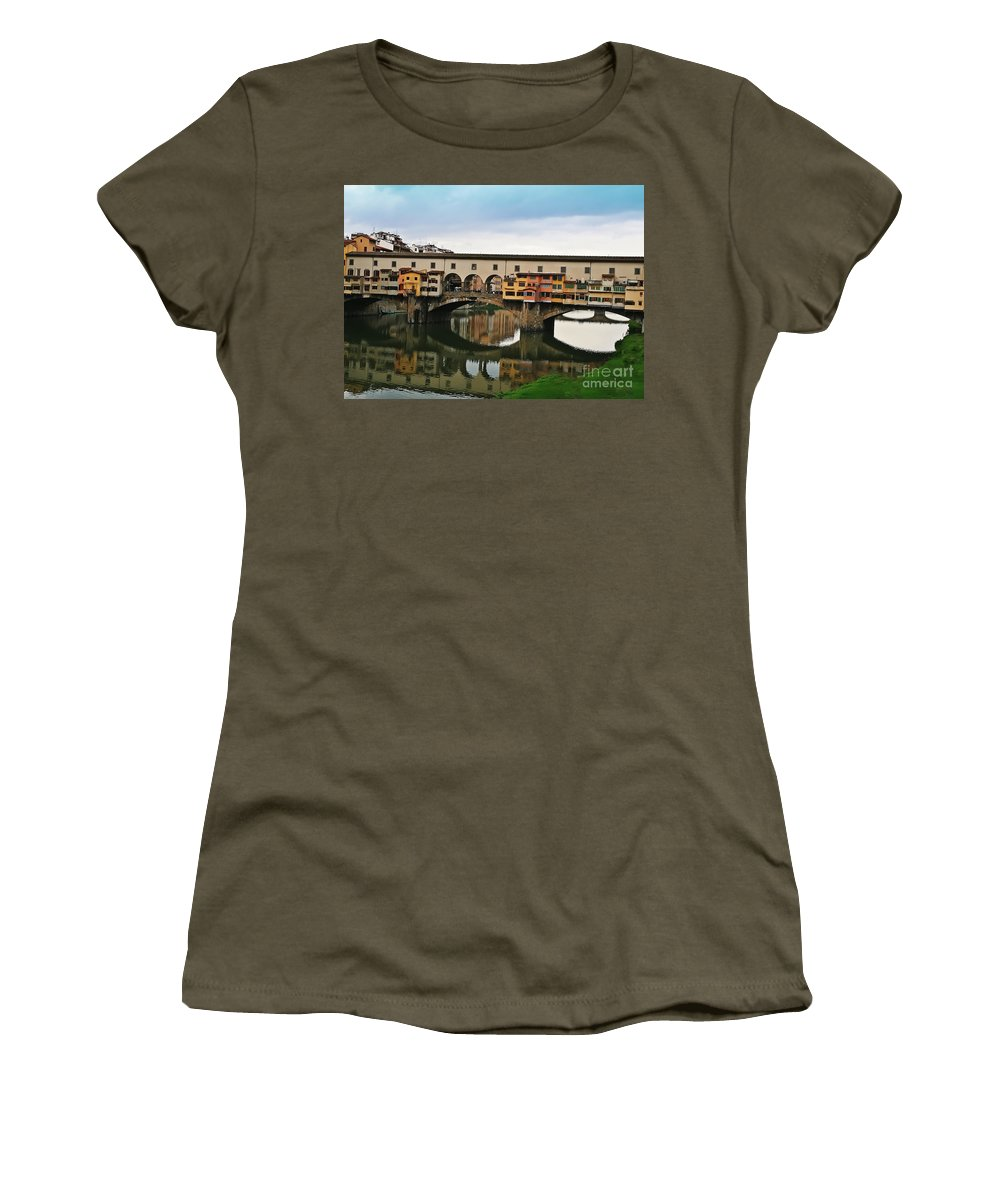 Travel Women's T-Shirt featuring the photograph Ponte Vecchio by Elvis Vaughn