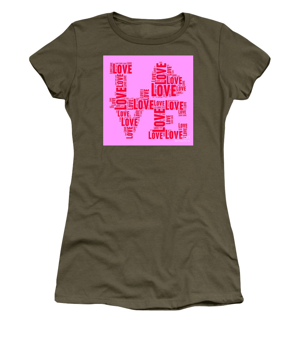 Love Women's T-Shirt featuring the digital art Pop Love 4 by Delphimages Photo Creations