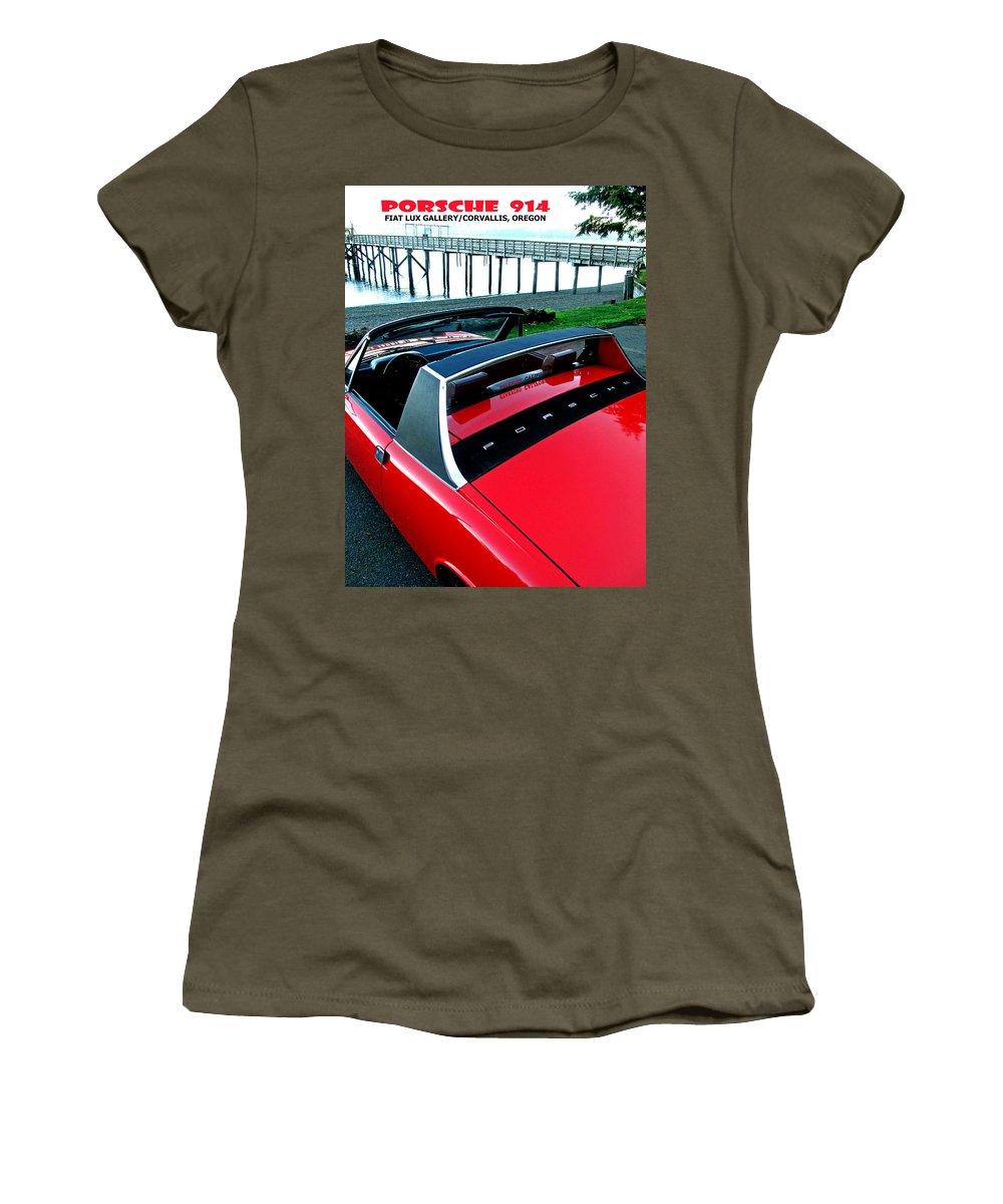 Porsche Women's T-Shirt featuring the photograph Porsche 914 II by Michael Moore