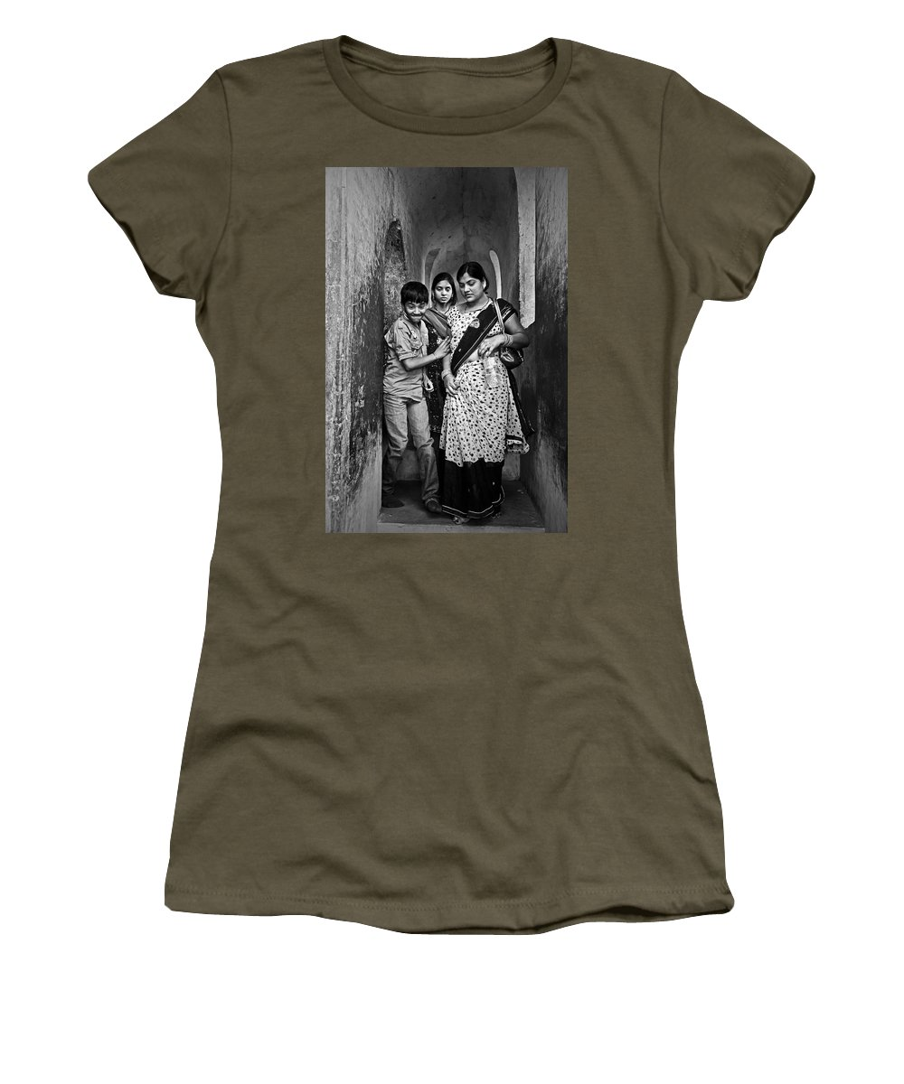 People Women's T-Shirt featuring the photograph Portrait Of A Candid Moment by Valerie Rosen
