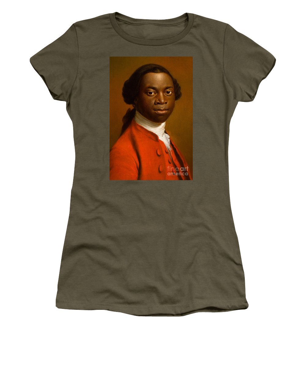 Male Women's T-Shirt featuring the painting Portrait Of An African by Allan Ramsay