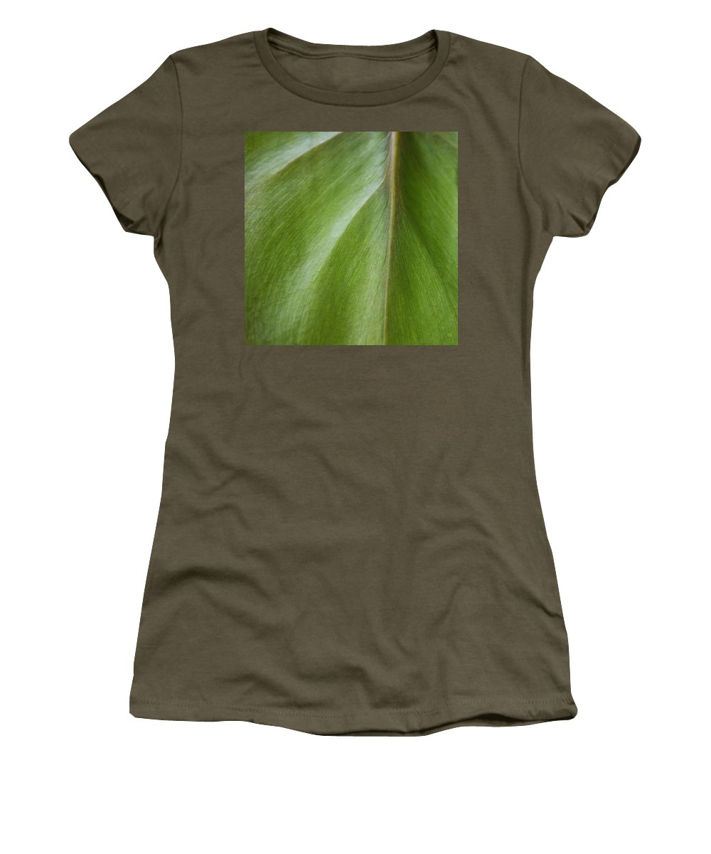 Pothos Women's T-Shirt (Athletic Fit) featuring the photograph Pothos Detail by David Stone