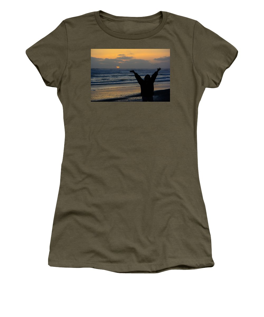 Sunset Women's T-Shirt featuring the photograph Praise by Tikvah's Hope