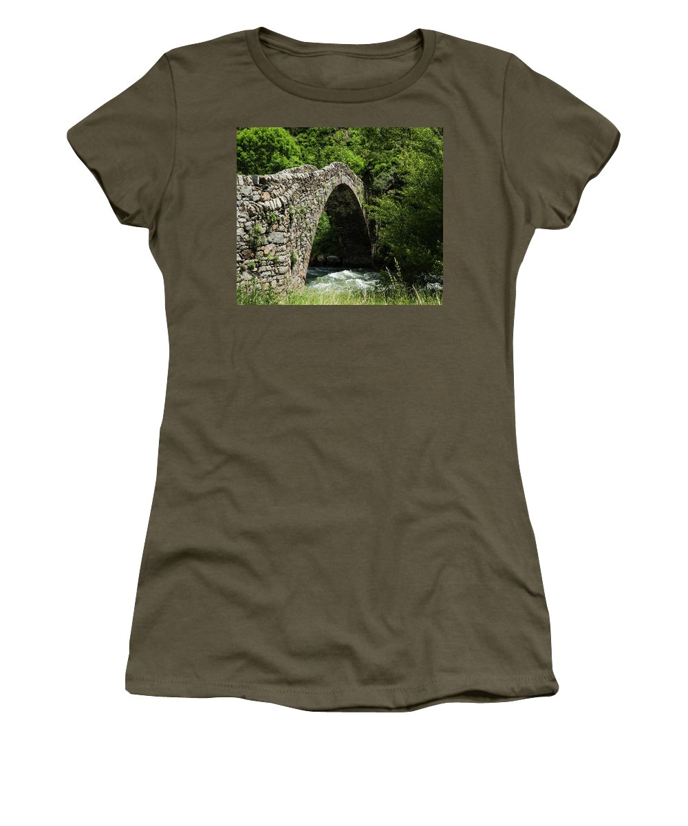 Photography Women's T-Shirt featuring the photograph Principality Of Andorra. Pont De La by Panoramic Images