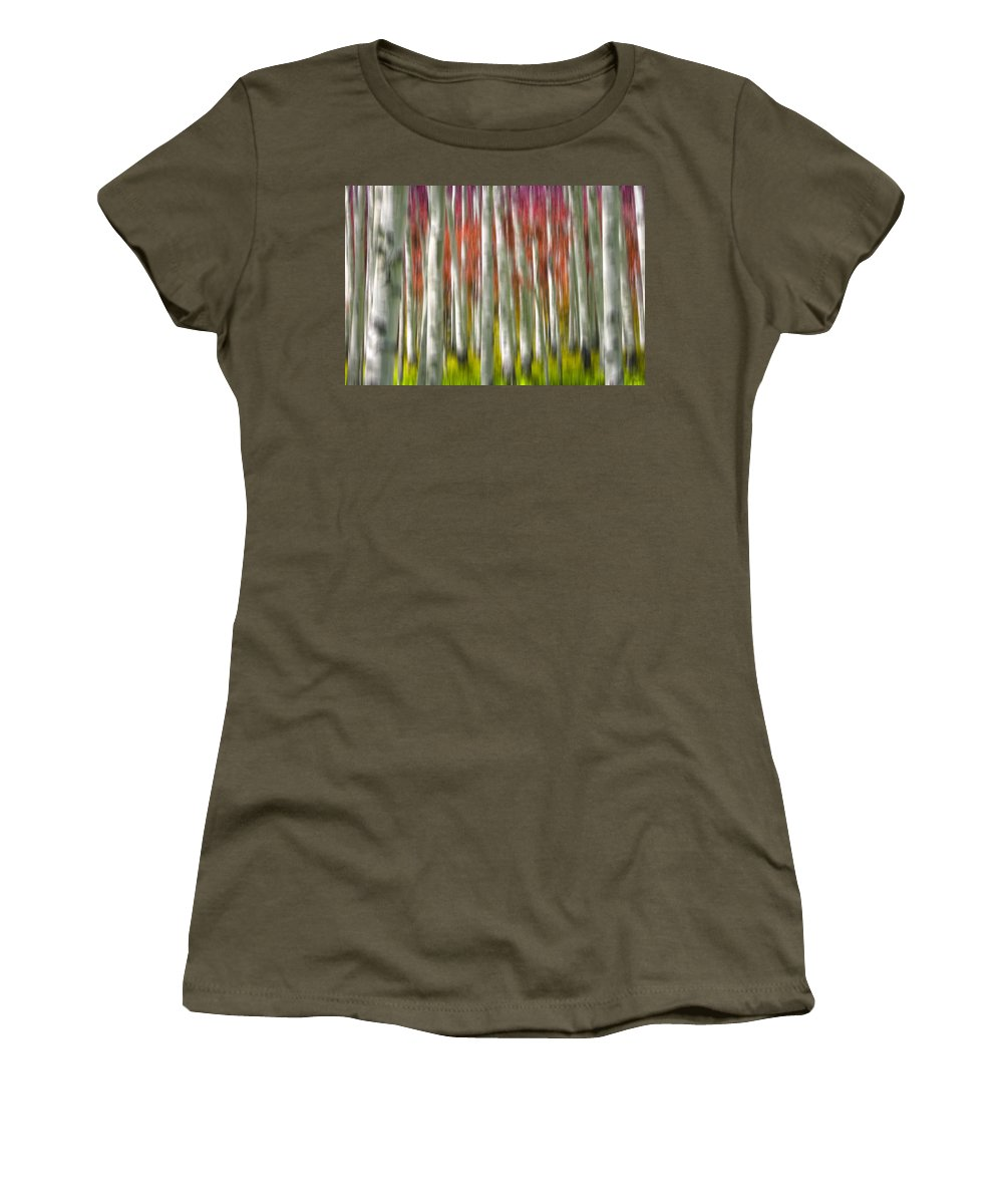 3scape Women's T-Shirt featuring the photograph Progression Of Autumn by Adam Romanowicz