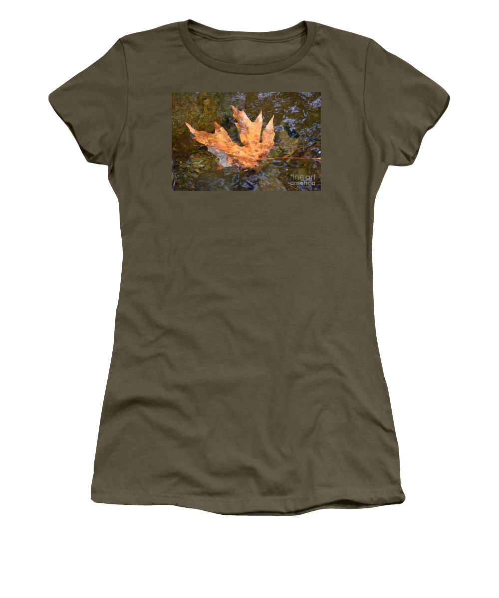 Canadian Women's T-Shirt featuring the photograph Proud To Be Canadian by Stephanie Bland