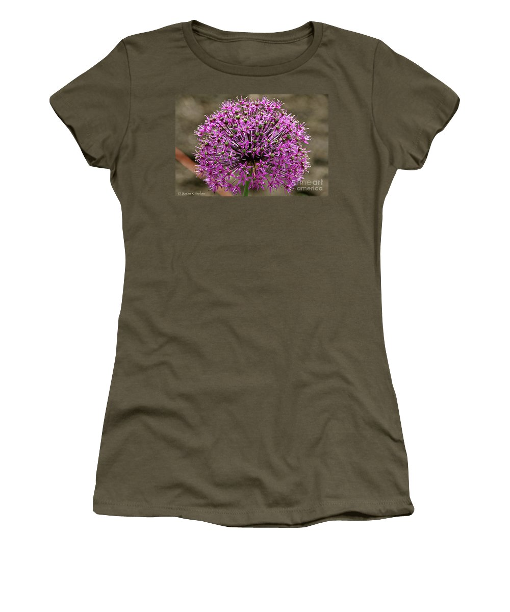 Flower Women's T-Shirt featuring the photograph Purple Explosion by Susan Herber