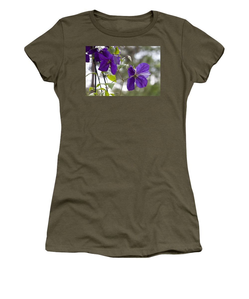 Rose Photographs Women's T-Shirt featuring the photograph Purple Haze by Vernis Maxwell