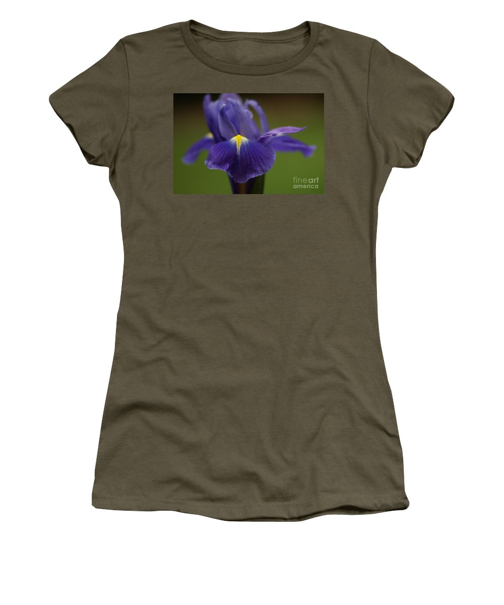 Purple Women's T-Shirt featuring the photograph Purple Iris 6 by Carol Lynch