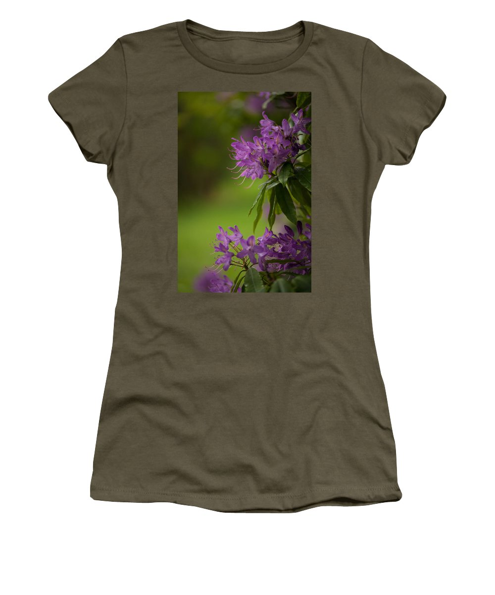 Flower Women's T-Shirt (Athletic Fit) featuring the photograph Purple Light by Mike Reid