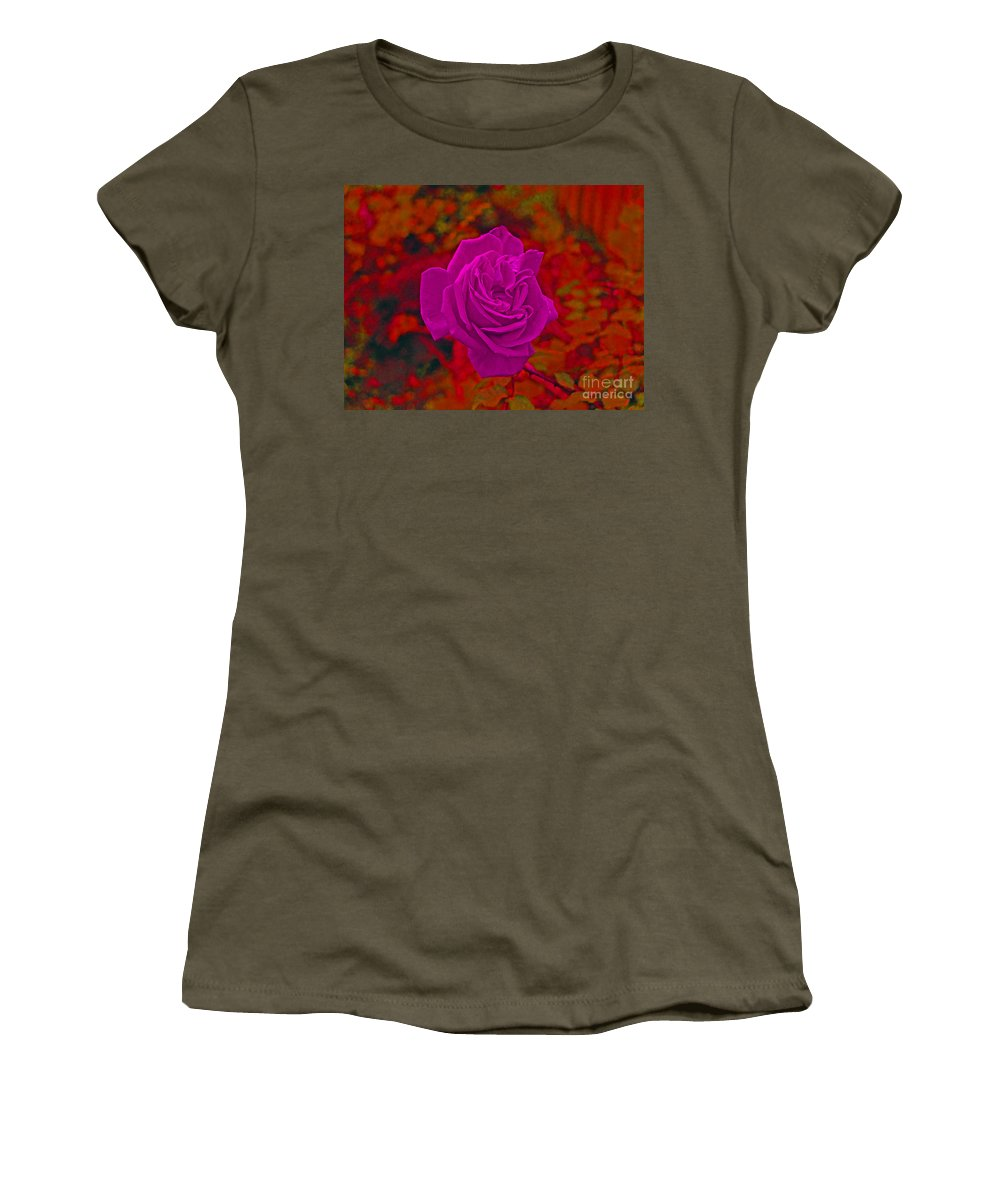 Rose Women's T-Shirt featuring the photograph Purple Rose by Simon Kennedy