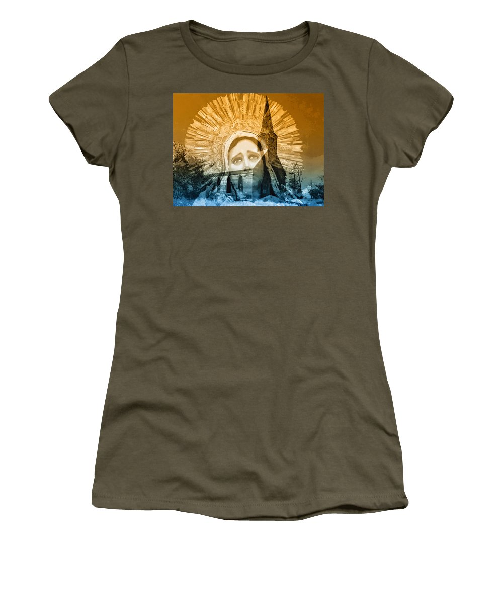 Queen Of Angels Women's T-Shirt featuring the photograph Queen Of Angels by Dominic Piperata