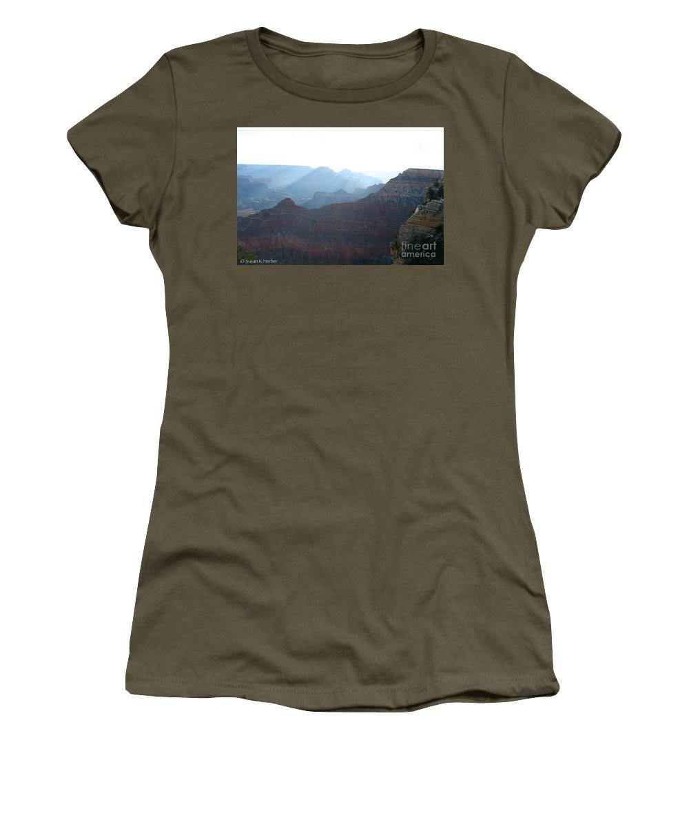 National Park Women's T-Shirt featuring the photograph Rainbow Ridges by Susan Herber