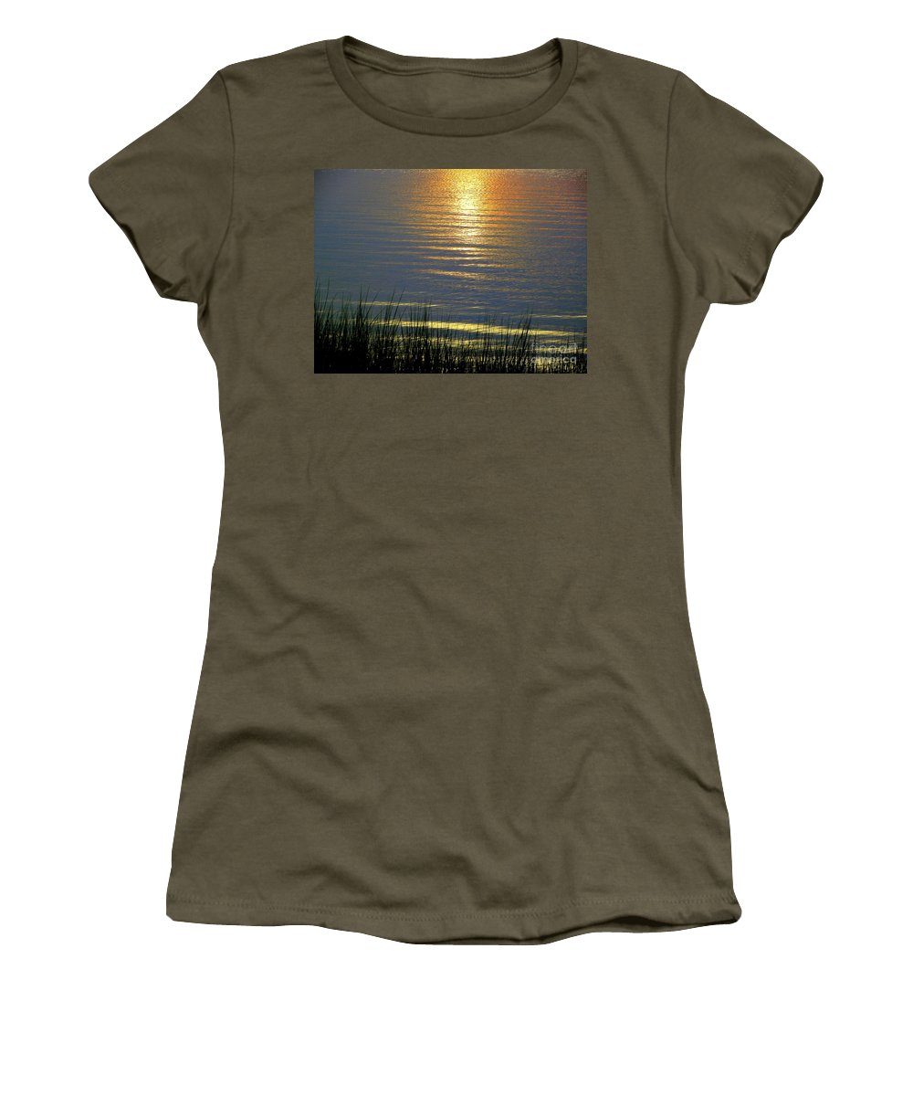 Rainbow Women's T-Shirt featuring the photograph Rainbow Waters by CapeScapes Fine Art Photography