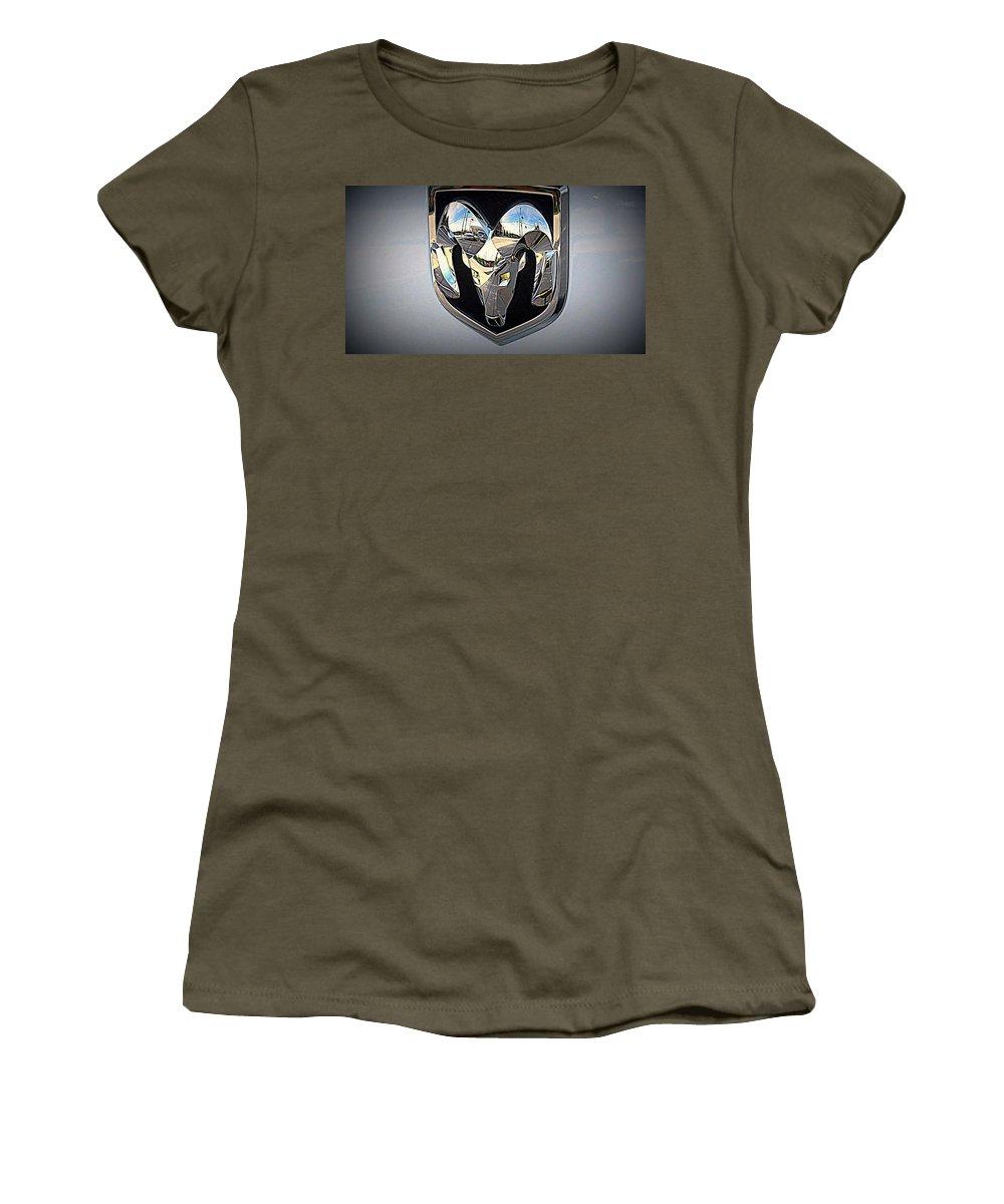Ram Brand Women's T-Shirt featuring the photograph Ram Tough by Kay Novy