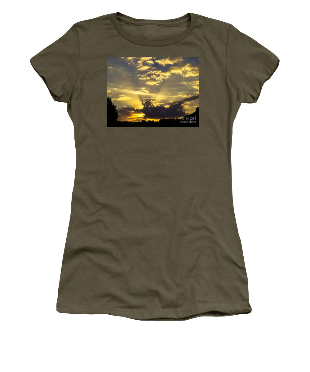 Rays Of Sunlight Women's T-Shirt featuring the photograph Rays Of Sunlight by Zina Stromberg