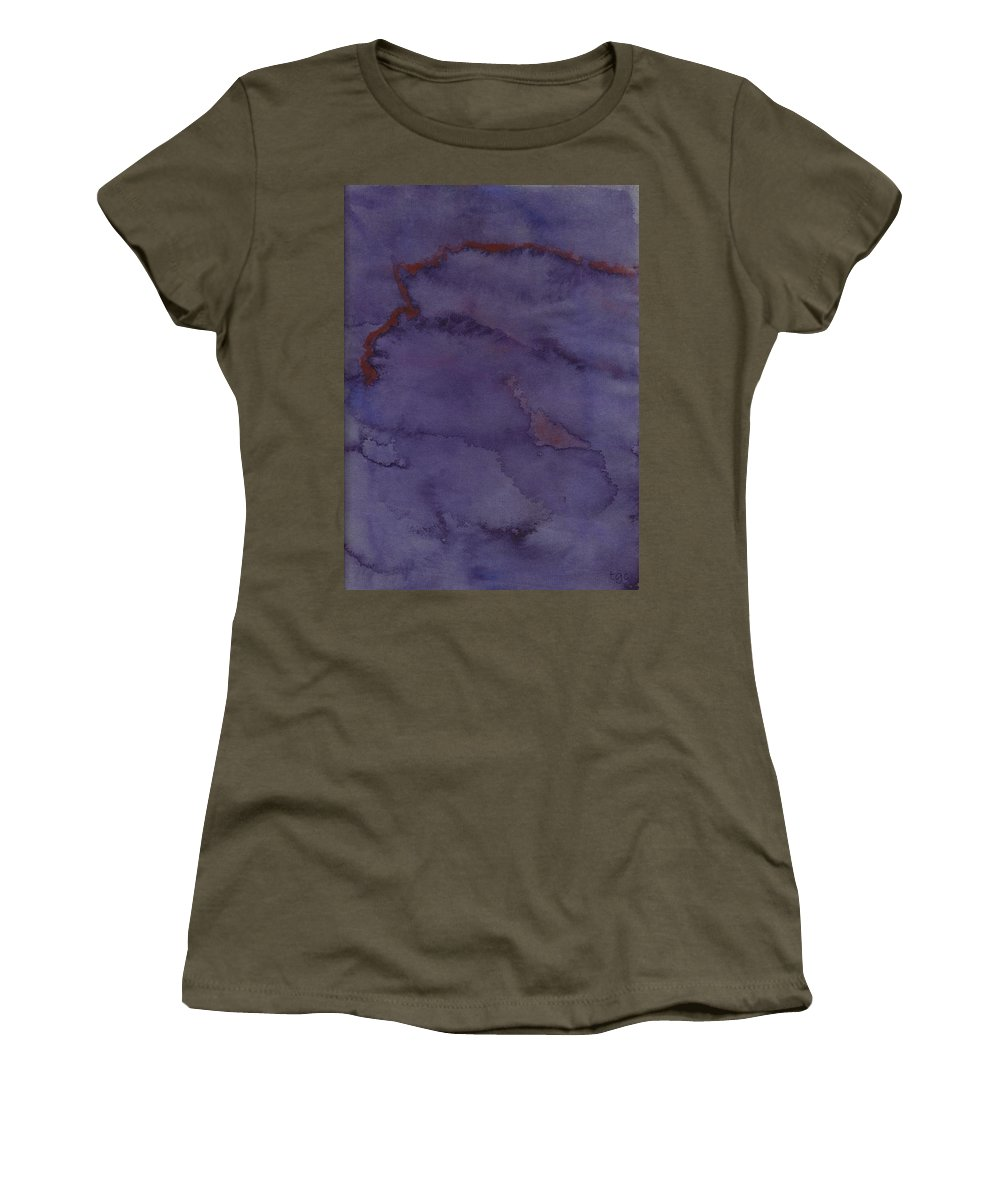 Abstract Women's T-Shirt featuring the painting Red Ribbon by Thomas Chasm