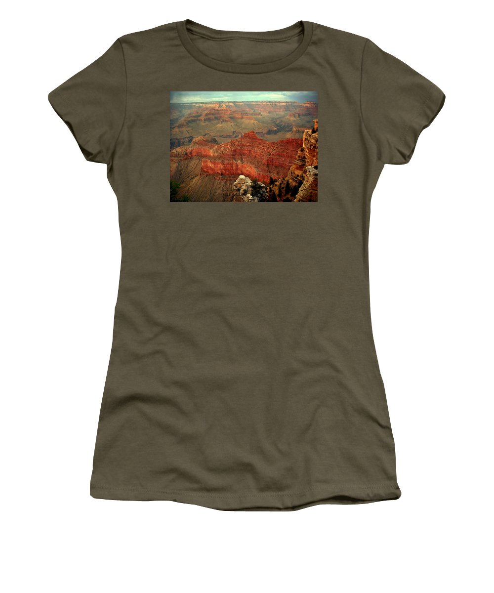 Grand Canyon Women's T-Shirt (Athletic Fit) featuring the photograph Red Vista by J Allen