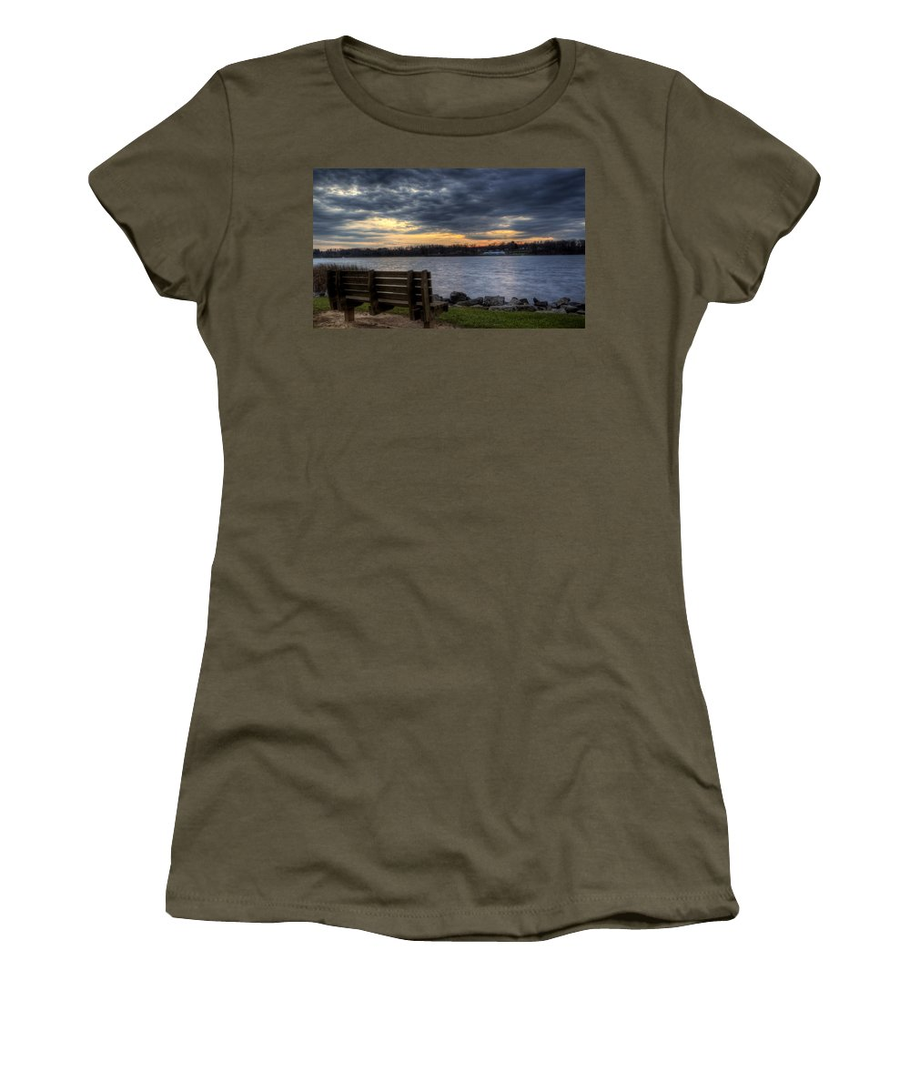 Landscape Women's T-Shirt featuring the photograph Reflection Time by David Dufresne